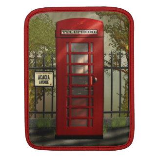 Vintage British Red Telephone Box iPad Sleeve