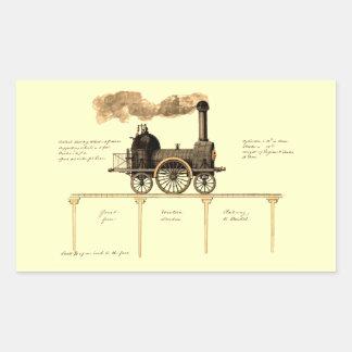 Vintage British Steam Engine Rectangular Sticker