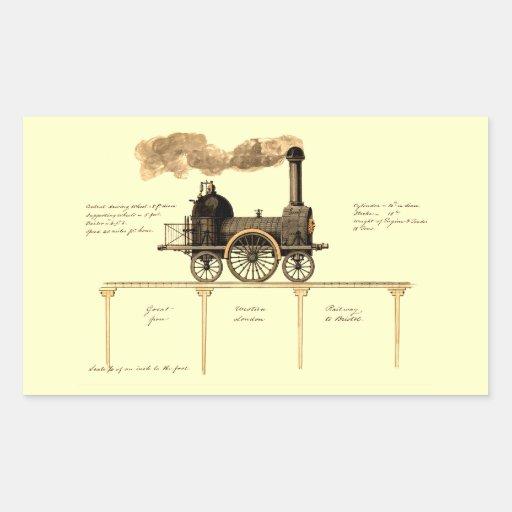 Vintage British Steam Engine Stickers