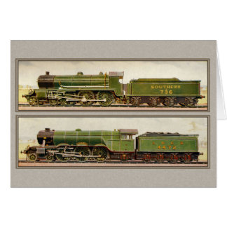 Vintage British Steam trains Greeting Card