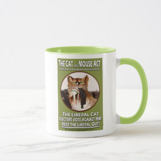Vintage British Suffragette Cat and Mouse Act