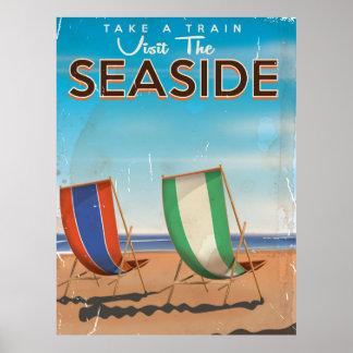 Vintage British Travel Seaside poster. Poster