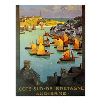 Vintage Brittany, Audierne, France - Postcard