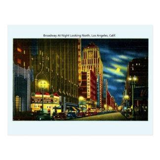 Vintage Broadway Los Angeles California Postcard