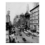 Vintage Broadway NYC Photograph (1920) Poster