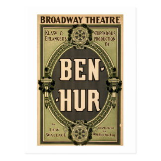 Vintage Broadway Theatre Ben Hur Play Postcard