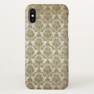 Vintage Brocade Damask Print iPhone X Case
