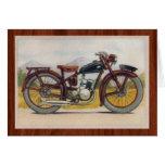 Vintage Bronze Motorcycle Print Note Card