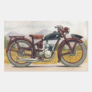 Vintage Bronze Motorcycle Print Stickers