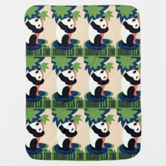 """Vintage """"Brookfield Zoo"""" baby blanket"""