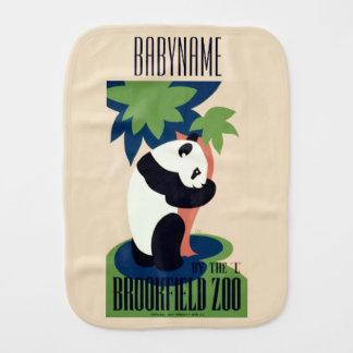 """Vintage """"Brookfield Zoo"""" custom burp cloth"""
