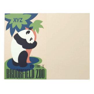 "Vintage ""Brookfield Zoo"" custom monogram notepad"