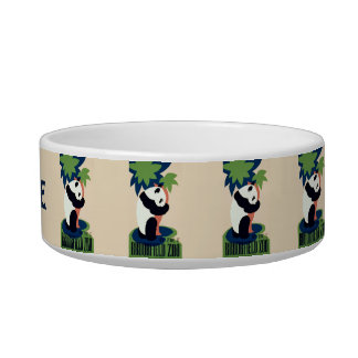 "Vintage ""Brookfield Zoo"" custom pet bowls"