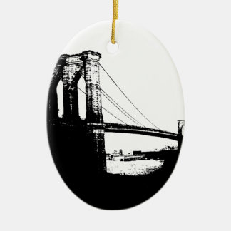 Vintage Brooklyn Bridge Christmas Ornament