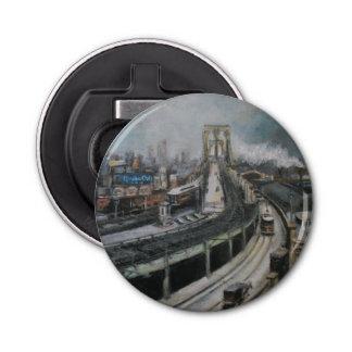 Vintage Brooklyn Bridge New York City cityscape