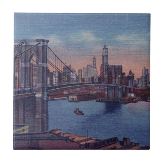 Vintage Brooklyn Bridge Tile
