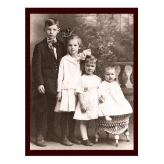 Vintage Brother & Sisters Postcard