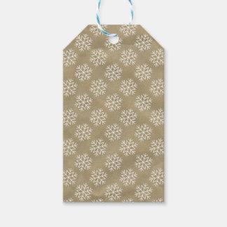 Vintage Brown Bag Christmas Gift Tag
