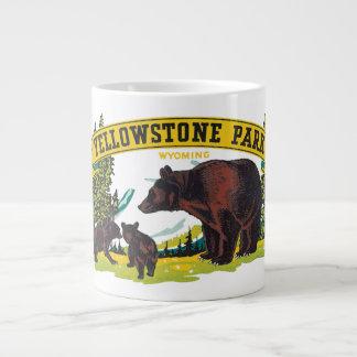 Vintage Brown Bears in Yellowstone National Park Jumbo Mug