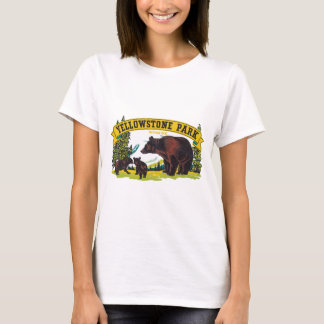 Vintage Brown Bears in Yellowstone National Park T-Shirt