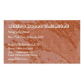 Vintage Brown Bricks  : Nature Wonders Business Card Templates