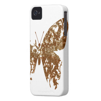 vintage brown butterfly i4phone case Case-Mate iPhone 4 cases