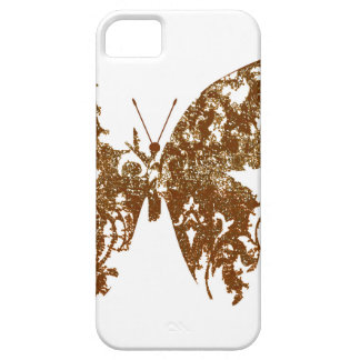 vintage brown butterfly iphone5 case barely there iPhone 5 case