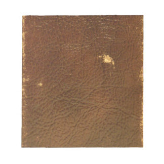 Vintage Brown Leather faux Notepad