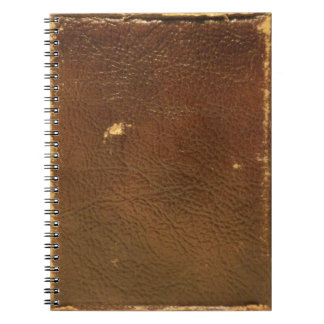 Vintage Brown Leather faux Spiral Notebook