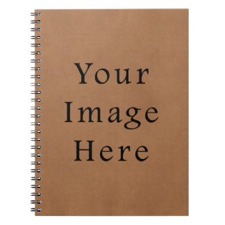 Vintage Brown Leather Parchment Paper Background Notebook
