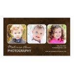 Vintage Brown Portrait Photographer Business Card