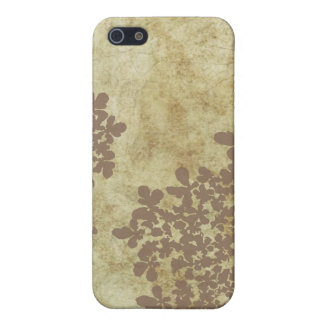 Vintage Brown Queen Ann's Lace iPhone 5/5S Case