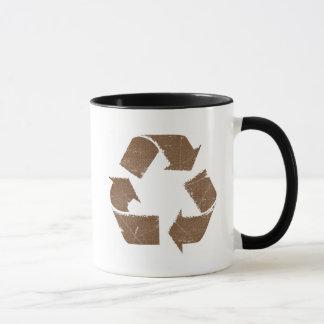 Vintage Brown Recycle Sign Mug