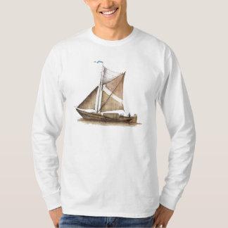 Vintage Brown Ship T Shirt
