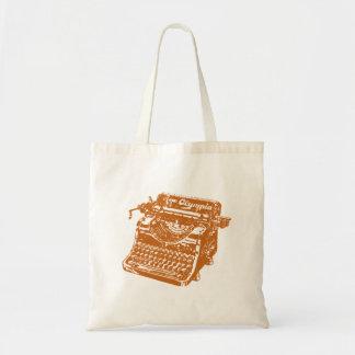 Vintage Brown Typewriter Budget Tote Bag