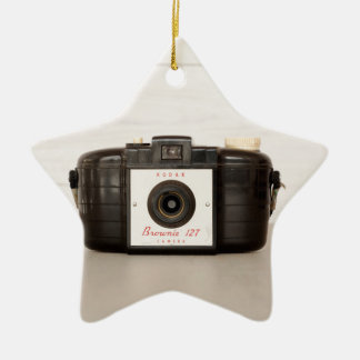 Vintage Brownie 127 Camera Ceramic Star Decoration