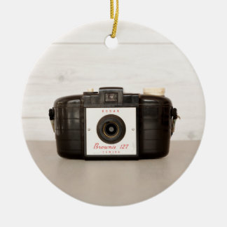 Vintage Brownie 127 Camera Christmas Ornament