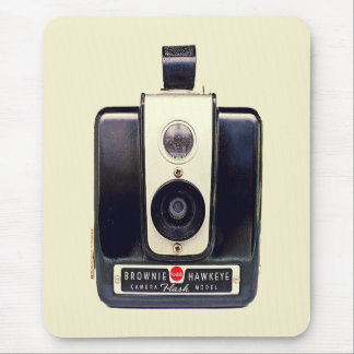 Vintage brownie camera mouse mat