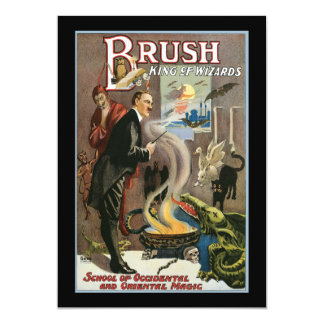 Vintage Brush, King of Wizards 1915 13 Cm X 18 Cm Invitation Card