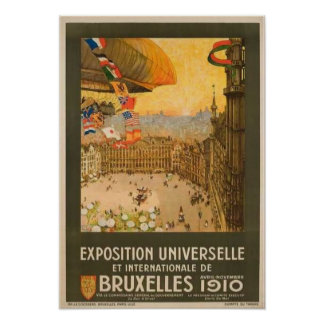 Vintage Brussels Exposition Poster