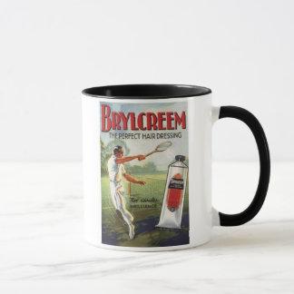 Vintage Brylcreem Man Playing Tennis Ad Mug
