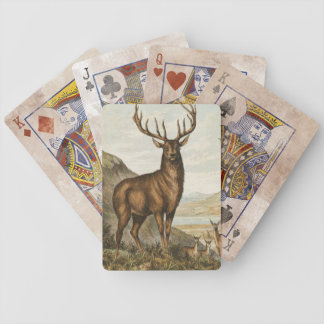 Vintage Buck Illustration Bicycle Playing Cards