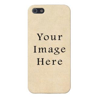 Vintage Buckskin Beige Parchment Paper Background Cases For iPhone 5