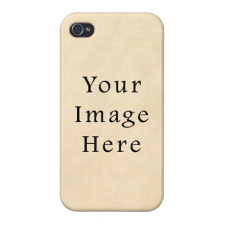 Vintage Buckskin Beige Parchment Paper Background iPhone 4 Case