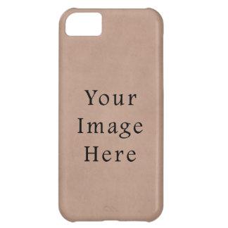 Vintage Buckskin Brown Parchment Paper Background iPhone 5C Case