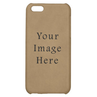 Vintage Buckskin Brown Parchment Paper Background Cover For iPhone 5C