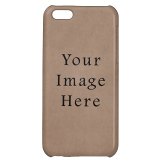 Vintage Buckskin Brown Parchment Paper Background iPhone 5C Cover