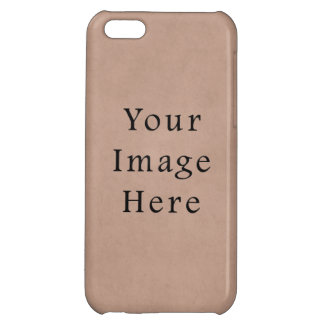 Vintage Buckskin Brown Parchment Paper Background iPhone 5C Covers