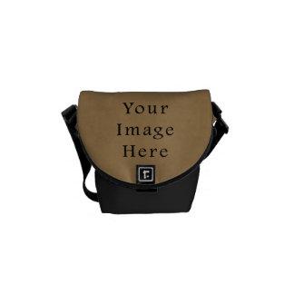 Vintage Buckskin Brown Parchment Paper Background Messenger Bag