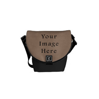 Vintage Buckskin Brown Parchment Paper Background Courier Bag